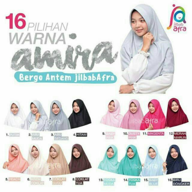 AMIRA SIZE XL JILBAB AFRA BERGO ANTEM | Shopee Indonesia