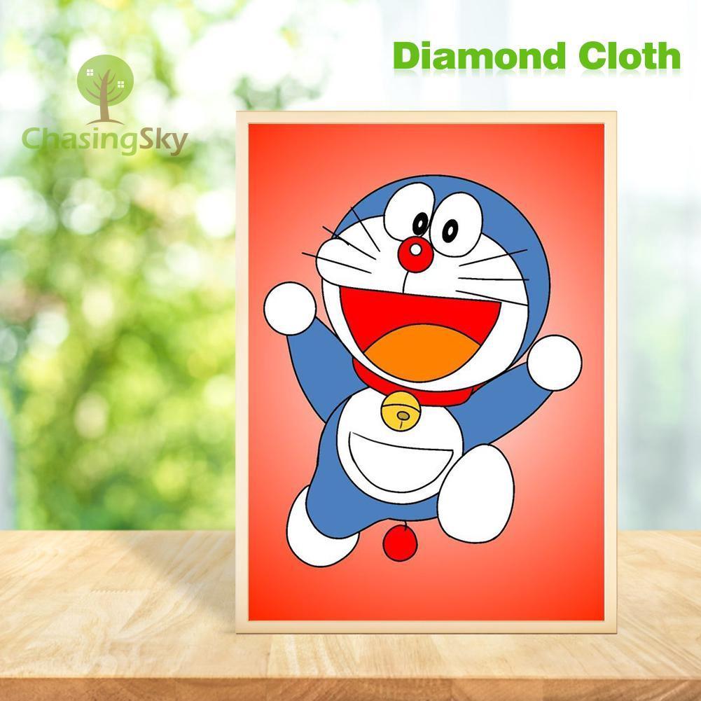 Lukisan Diamond 5D Tema Doraemon Untuk Dekorasi Rumah DIY