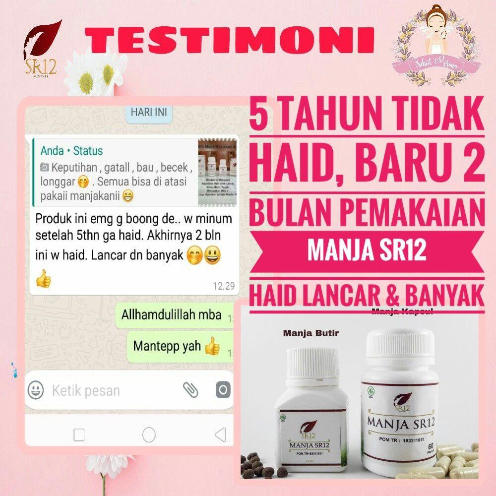 Aman Bpom Manjakani Sr12 Obat Jamu Pelancar Telat Haid Menstruasi Alami Paling Ampuh Di Apotik Shopee Indonesia