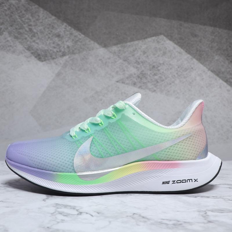 Nike Air Zoom Pegasus 35 Wanita Bling Rainbow Bernapas Ringan
