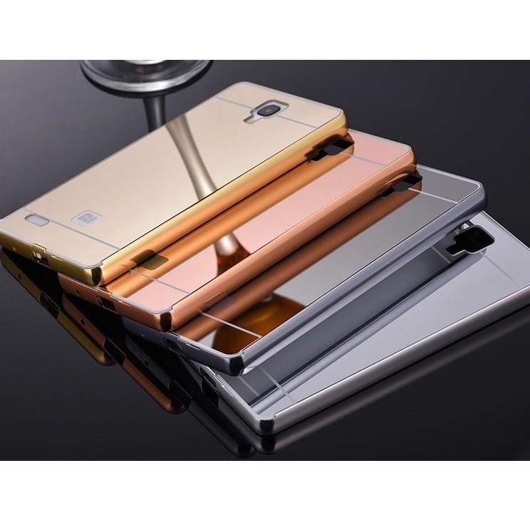 various colors bdb5d c8941 Bumper Mirror xiaomi Redmi Note 1 Backcase Hardcase Casing Slide Case  alumunium Metal