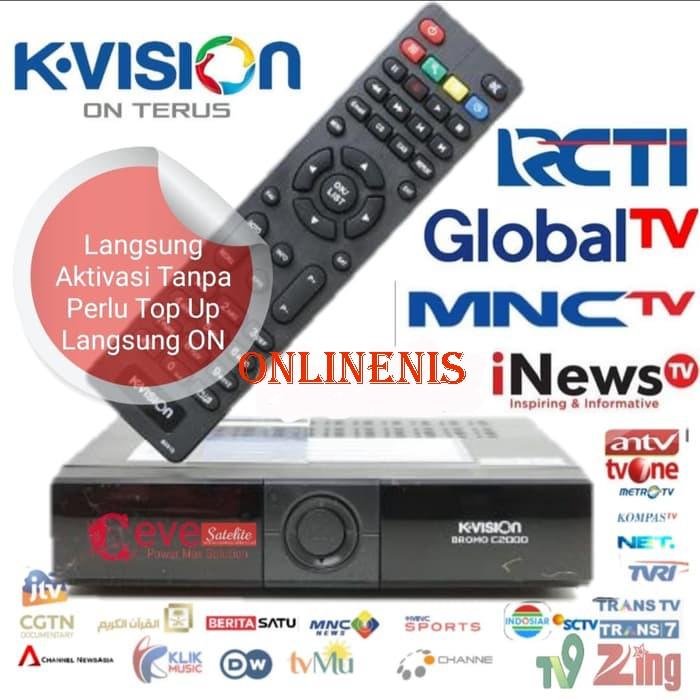 receiver kvision c2000 new versi 2019 bisa on di c band atau ku band