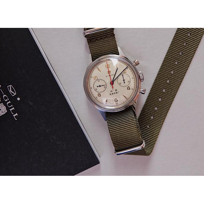 Seagull 1963 Airforce Military watch Chronograph 21 Jewels