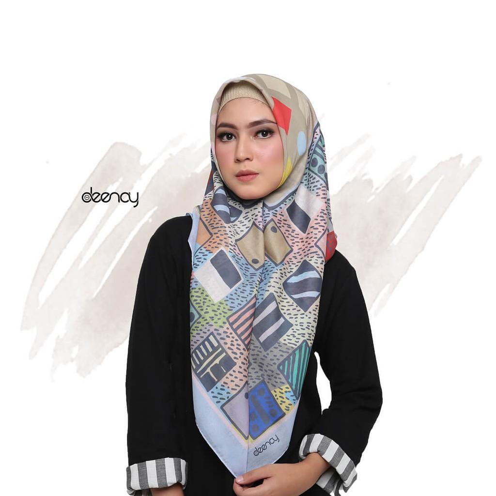 Desain Baru Hijab Printing / Jilbab Segi Empat Deenay - RACHEL Makin  Berkualitas