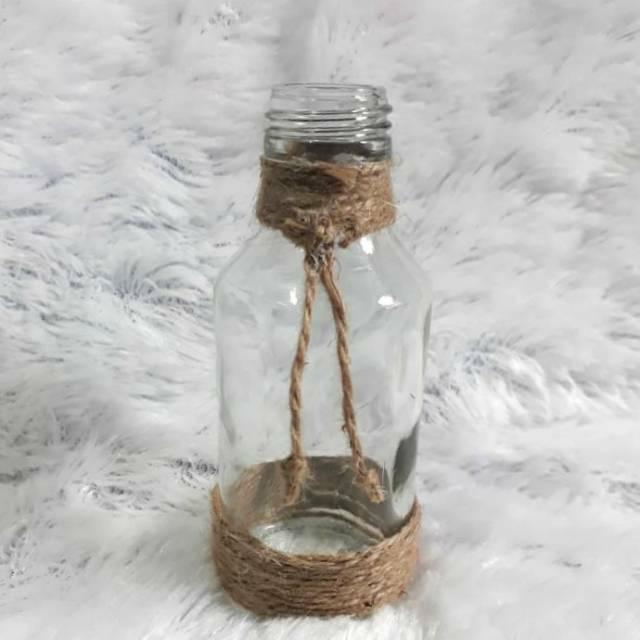 Vas Bunga Kaca Vase Vintage Glass Gelas Kaca Rustic Vase Botol Tempat Bunga Kaca Vas Beling Bening Shopee Indonesia