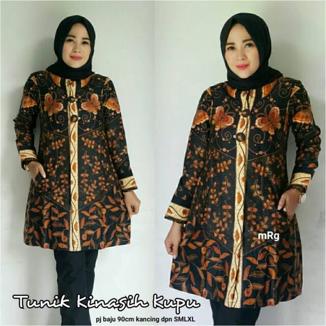Jual Tunik Muslimtunik Batik Moderntunik Wanita Trend Masa Kini