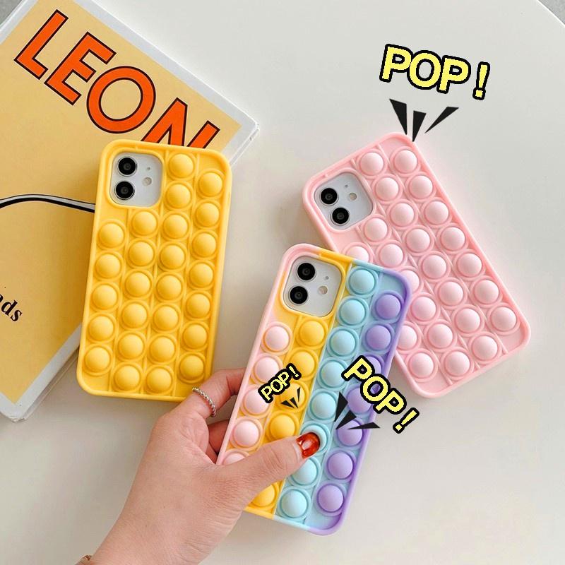 DD| Casing HP Vivo Y20 Y20S Y12S Y20i Y20S G Y19 S1 Y11 Y12 Y15 Y17 Y12i Y30 Y30i Y50 Y91C Y1S V5 V5S Lite V9 V11i Y81 Y81i V20 SE Pro Push pop it Bubble Sensory Soft Cover Rainbow 3D Silicone Phone Case