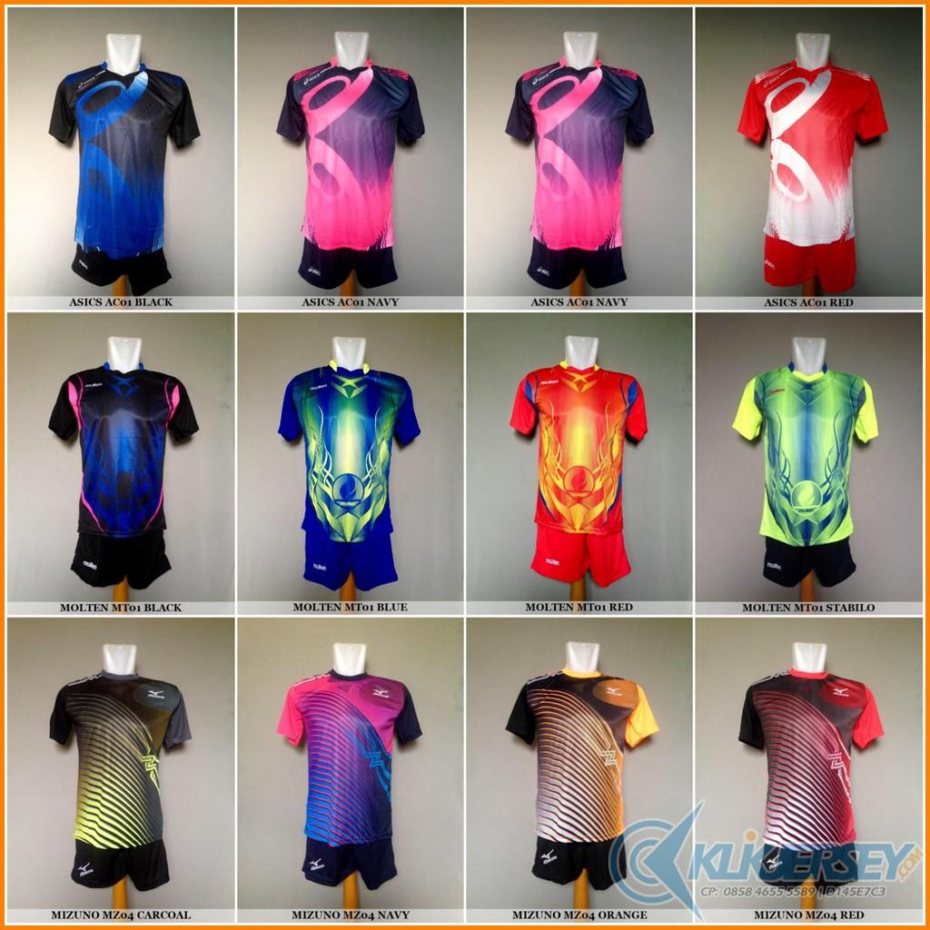 Baju Kaos Olahraga Jersey Voli Setelan Volley Asics Mizuno Molten ... 8ec0280de0