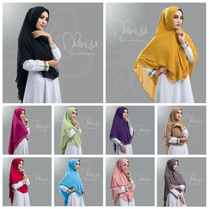 Jilbab Hijab Khimar Dhanisa 2 Layer Model Terbaru Shopee Indonesia