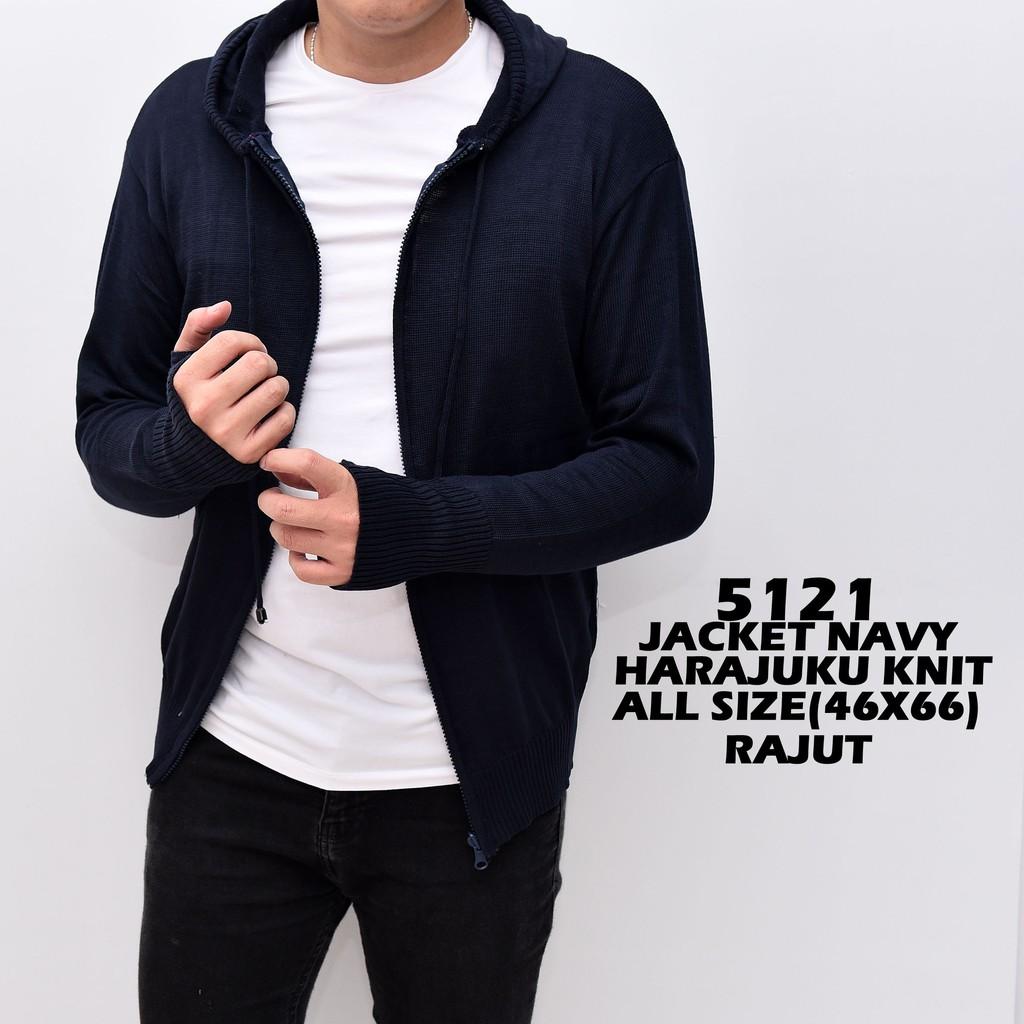Sweater Pria Rajut Lionel Navy Tebal Shopee Indonesia Azuma