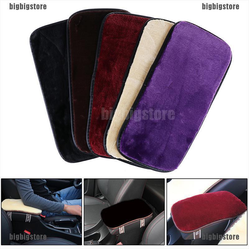Car Auto SUV Center Box PU Armrest Console Soft Pad Cushion Cover Wear Black