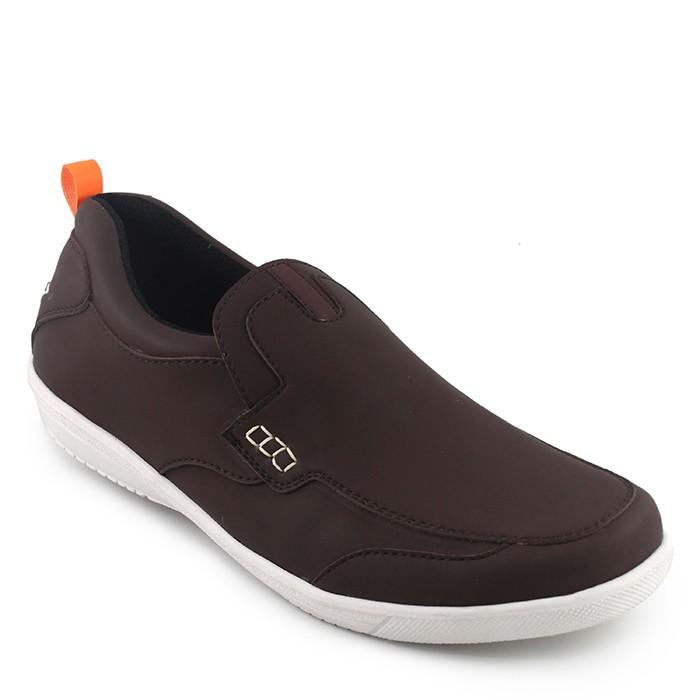 Sauqi Walkers - Sepatu Slip On Pria Sepatu Casual Slop Santai Kuliah Formal  Kerja Murah - hitam  e667edcfe9