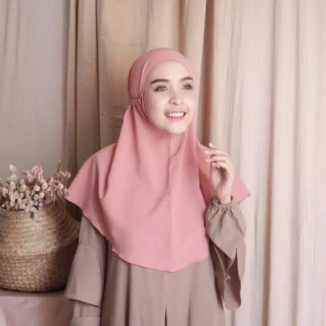 Bergo Maryam Jilbab Sekolah Khimar Tali Wolfis Shopee Indonesia