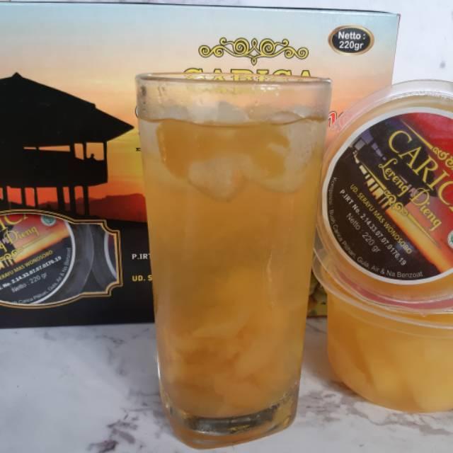 Carica dieng / minuman segar carica / manisan carica