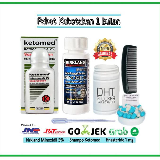 Promo Paket Kebotakan Finasteride 1 Mg Kirkland Minoxidil 5 Ketoconazole 2 Berkualitas Shopee Indonesia