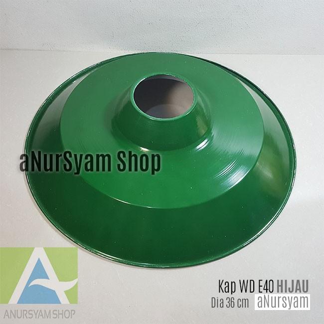 JL - Fiting Kap 18 cm Gantung E27 Kap Hijau Kecil Kap Besi Lampu Jalan / Holder Fiting Lampu Outdoor | Shopee Indonesia
