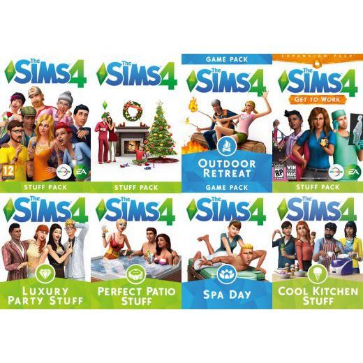 The sims 4 ALL DLC ORIGINAL
