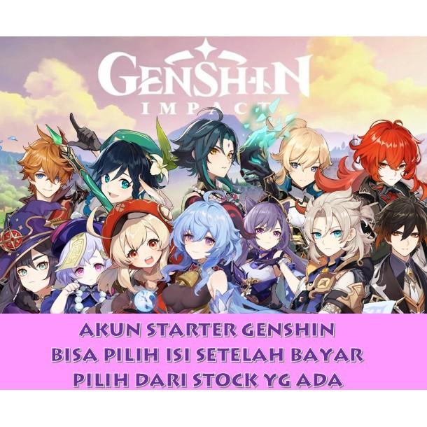 Akun Starter Genshin Impact *5 HUTAO / Venti / Xiao / Diluc / Ganyu / Rekues / WeaponOnly