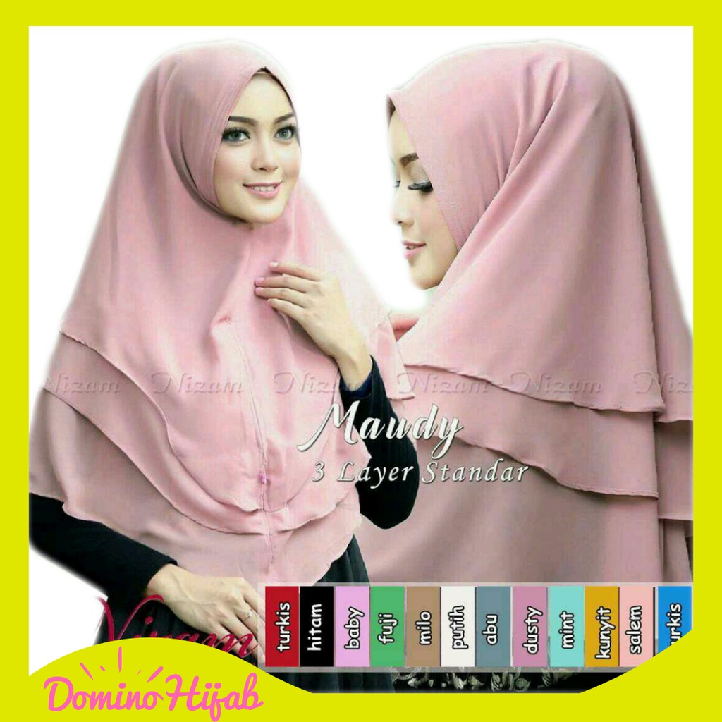 Khimar Ceruti Pet Sabrina - Jilbab Instan Hijab Syari Kerudung Jumbo 3 Layer | Shopee Indonesia