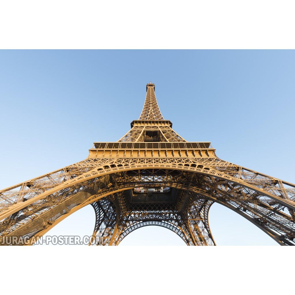 Hiasan Dekorasi Dinding Poster Pemandangan Alam Menara Eiffel 56 60x90cm
