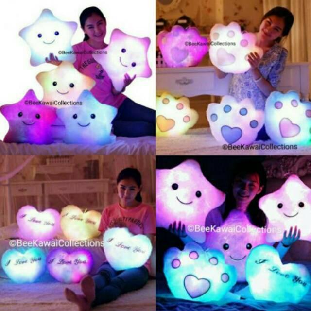 Boneka Mainan Bantal Berbentuk Bintang Dengan Lampu LED  93887bfa95