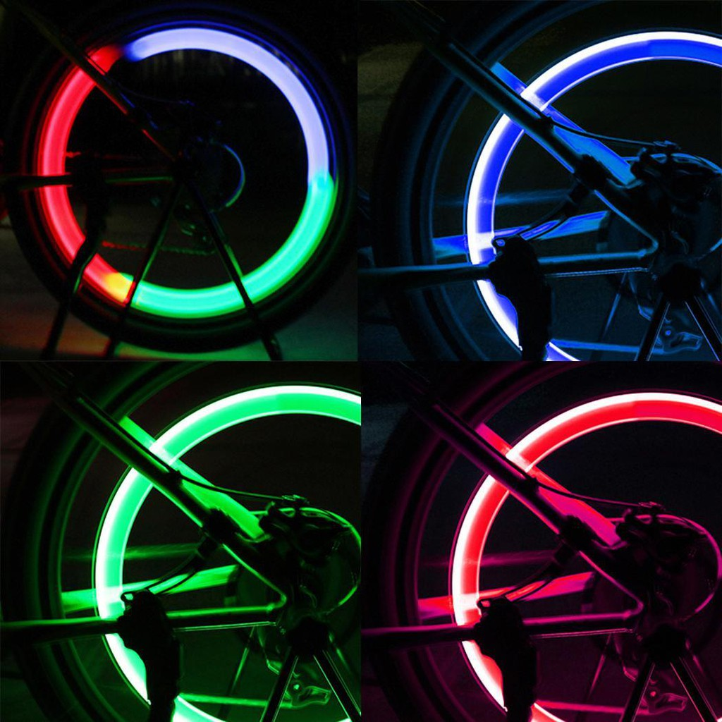 New Fancy Wheel Valves Bicycle Bike Motorcycle Lamp 7LED Lights Neon Lamp