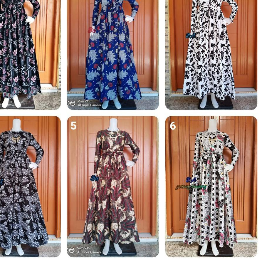 Bigsale 12.12 Gamis Batik Sekar Padi ____