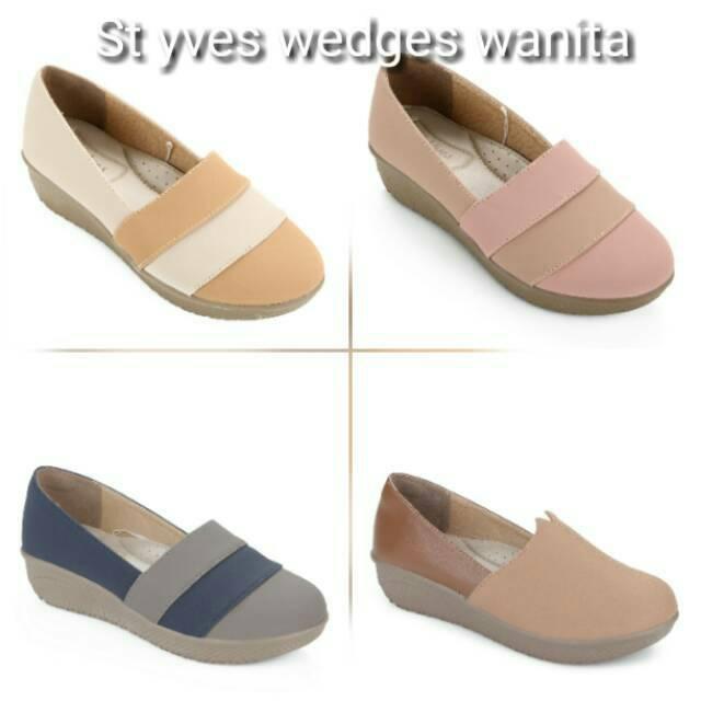 St yves wedges wanita  589e7d5e63