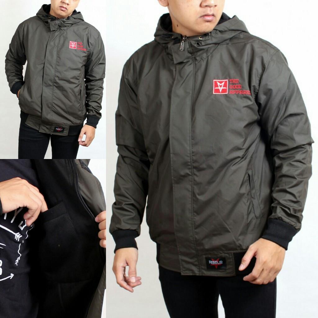 Sw Jaket Pria Outwear Hoodie Best Seller Viral Shopee Indonesia Black Grey
