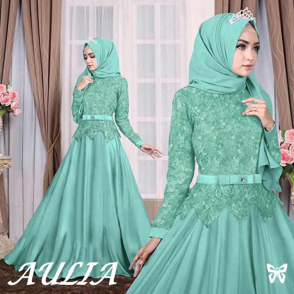 SHOPIA GAMIS SYARI AULIA DRESS HIJAB FASHION MUSLIM MAXI JERSEY PREMIUM TERBARU TERLARIS   Shopee Indonesia