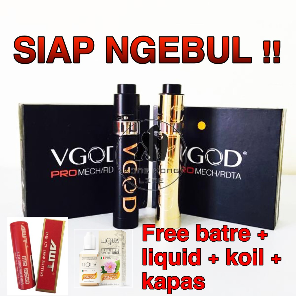 Authentic VGOD PRO Mech 2 Kit with Elite RDA Vape Vapor Mechanical | Shopee Indonesia