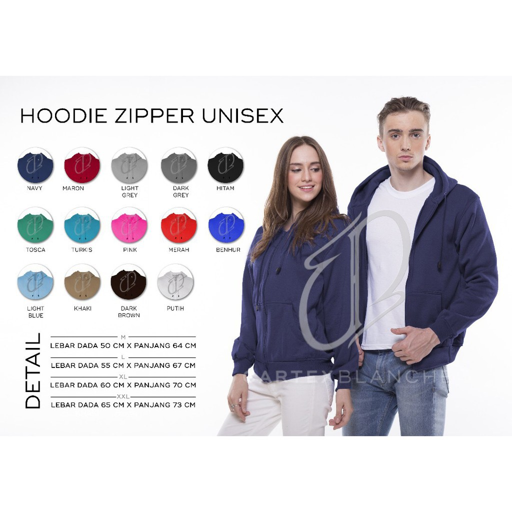 Hoodie Zipper Basic Polos Unisex All Size Misty Shopee Indonesia Hoodieku Jumper Crop Lifestyle Yellow Butter