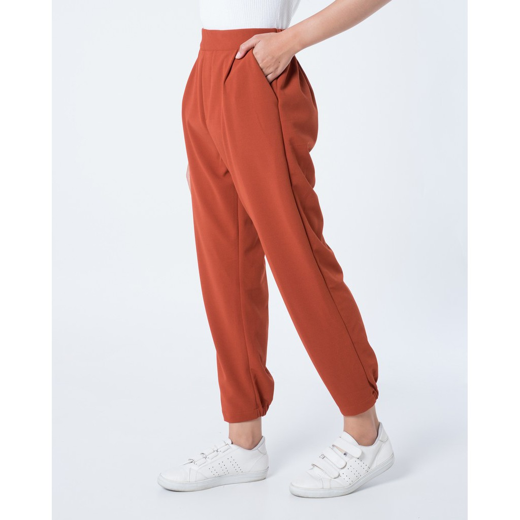 Myrubylicious Glory Stripe Pants Shopee Indonesia Nagita Zara List Side Hitam Merah Bahan Scuba