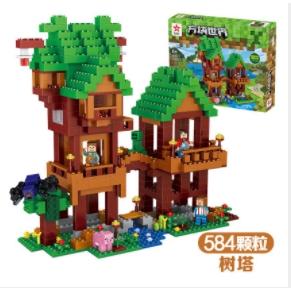 Lego Balok Bangunan Seri Elf Tree House My World Compatible Shopee Indonesia