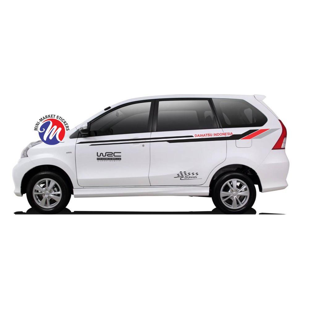 TERMURAH Stiker Terios Xenia Sigra Ayla Sirion Daihatsu Indonesia Universal TERLARIS