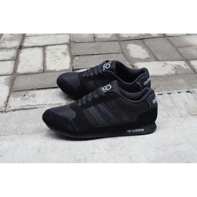 Sepatu Murah Original Sepatu Sekolah Adidas Neo Full Black Hitam