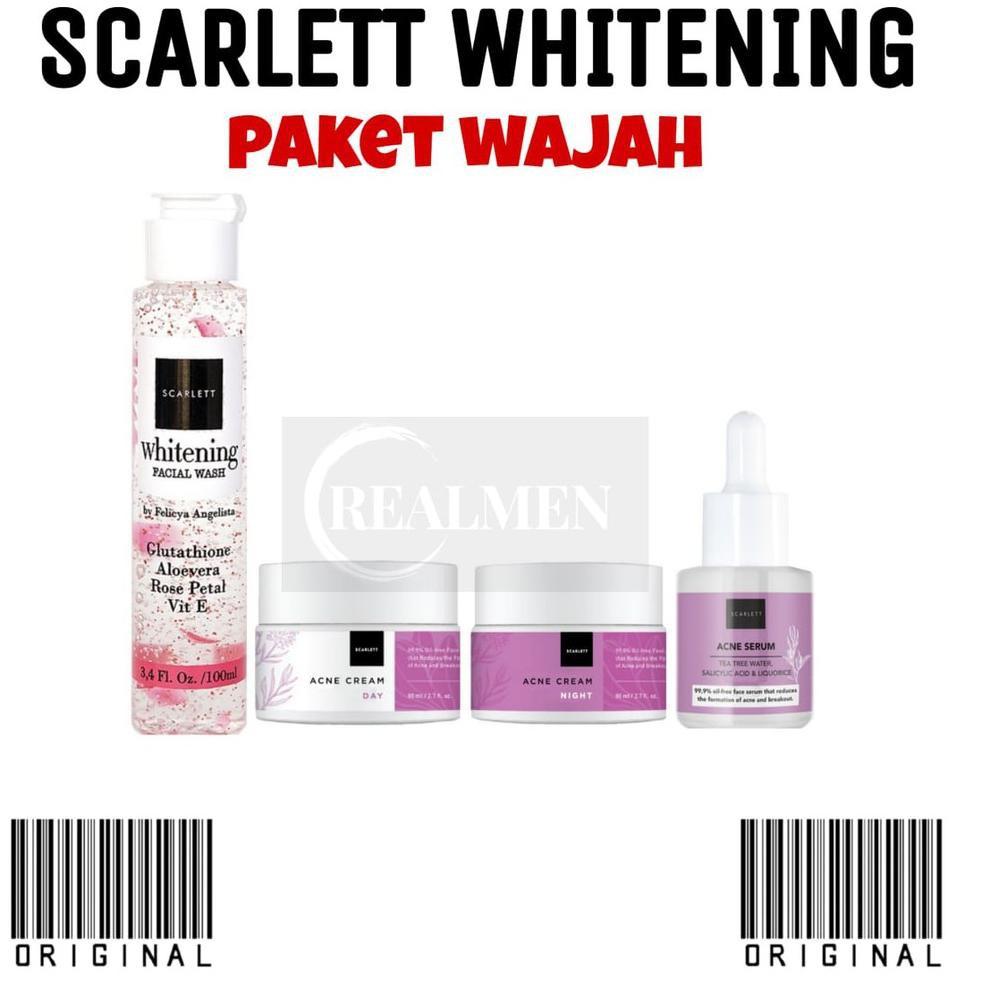 Barang's promoh BPOM SCARLETT WHITENING PAKET WAJAH ORIGINAL / PERAWATAN WAJAH SCARLETT B55B1 ,,.! !