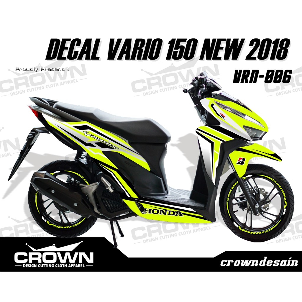 Decal stiker new vario 150 125 2018 viaviavia shopee indonesia