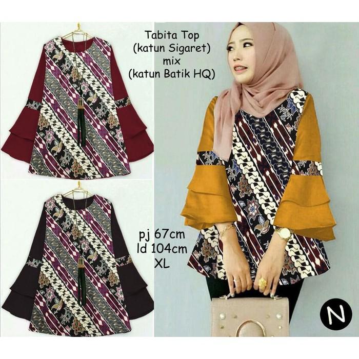 61116 tabita top baju batik wanita baju tunik atasan muslim wanita ... c35c41af45