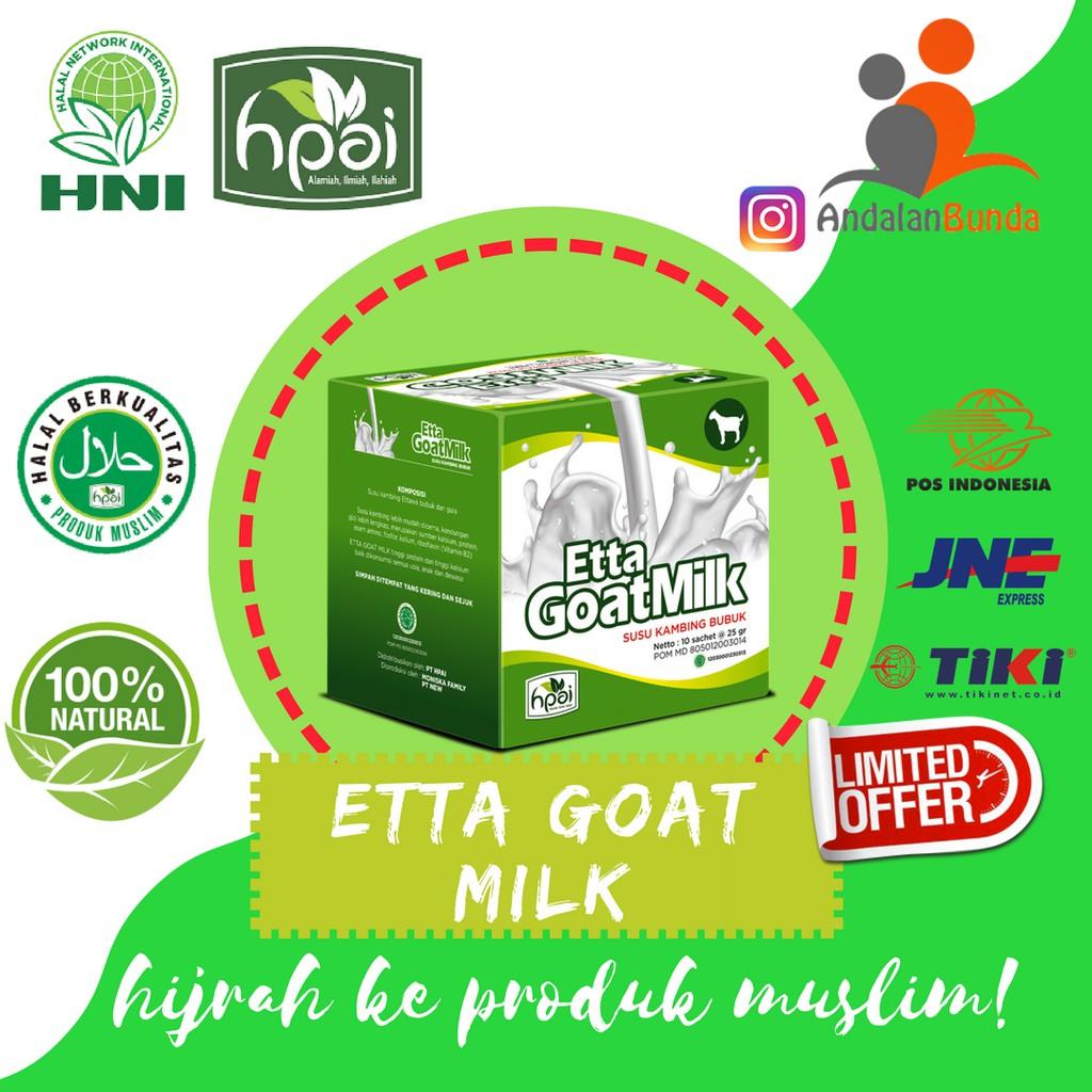 Promo Susu Kambing Etta Goat Milk Hpai Shopee Indonesia Member  Dengan Card Dan Katalog