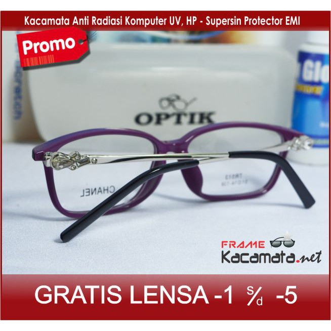 Frame kacamata minus wanita pria paket lensa anti radiasi minus plus  silinder photocromic  5a7f18fe9d