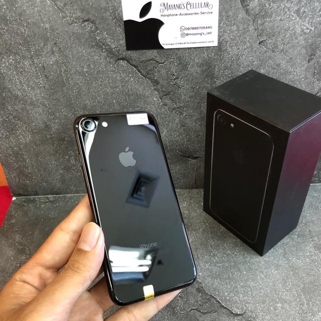 Iphone 7 128gb Jet Black Lengkap Original Shopee Indonesia