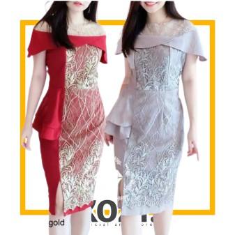 KZOFF line Baju dress wanita cewe busui kerja kuliah gereja kondangan pernikahan natal imlek sinciaa