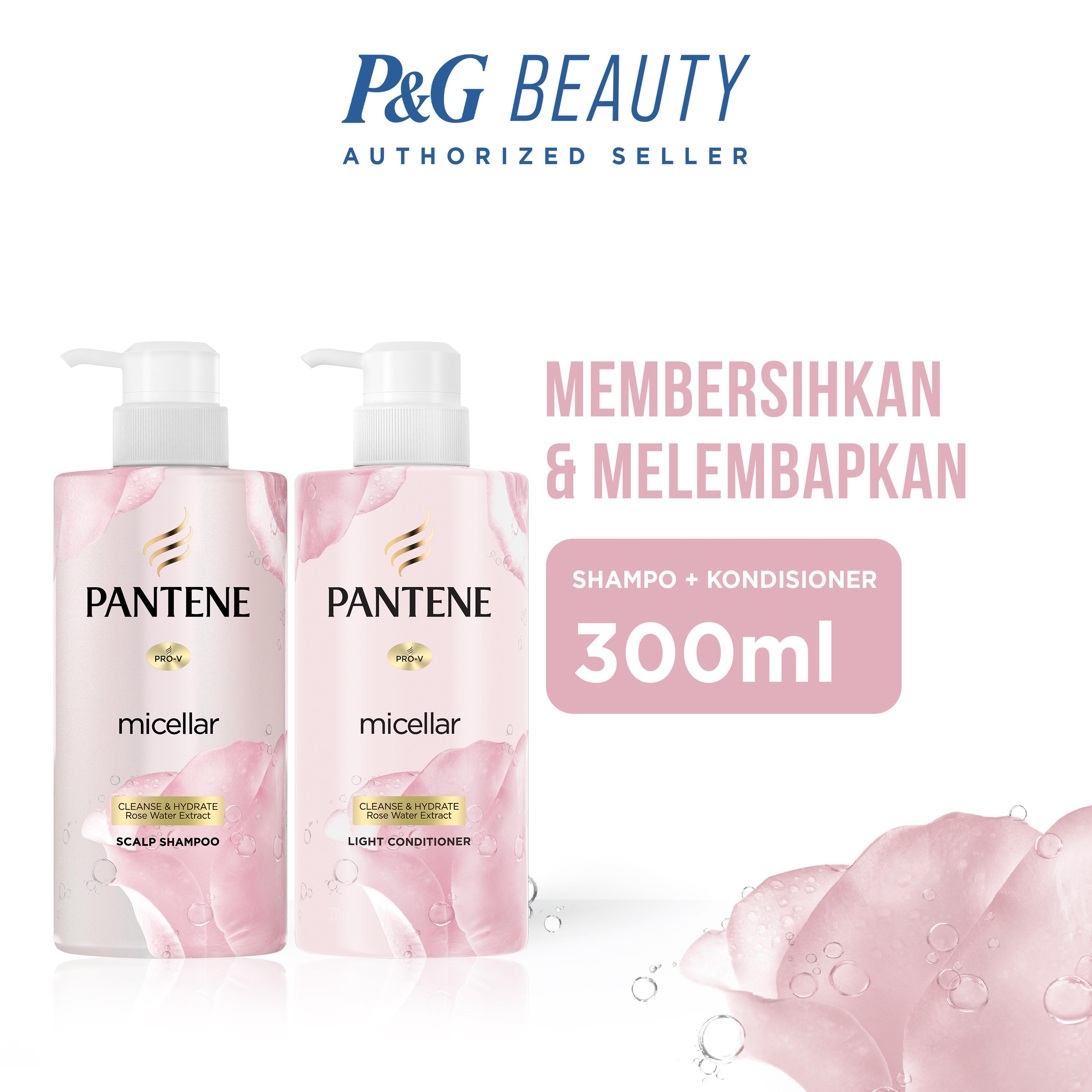 Pantene Micellar Cleanse and Hydrate - Paket Shampoo 300 ml + Conditioner 300 ml