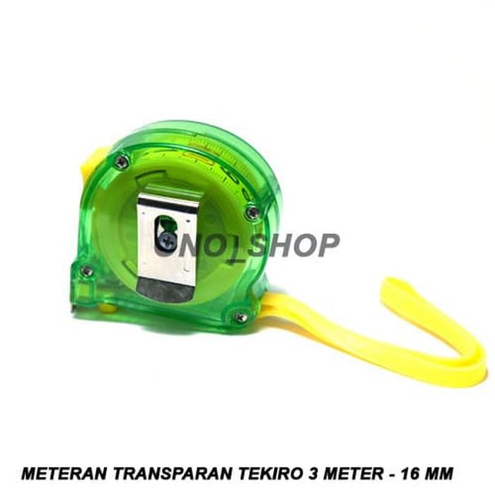 METERAN TRANSPARAN TEKIRO 3M / 5M / 7.5M / 10M /// MEASUREMENT TAPE 3 / 5 / 7,5 / 10 M /// METER   Shopee Indonesia