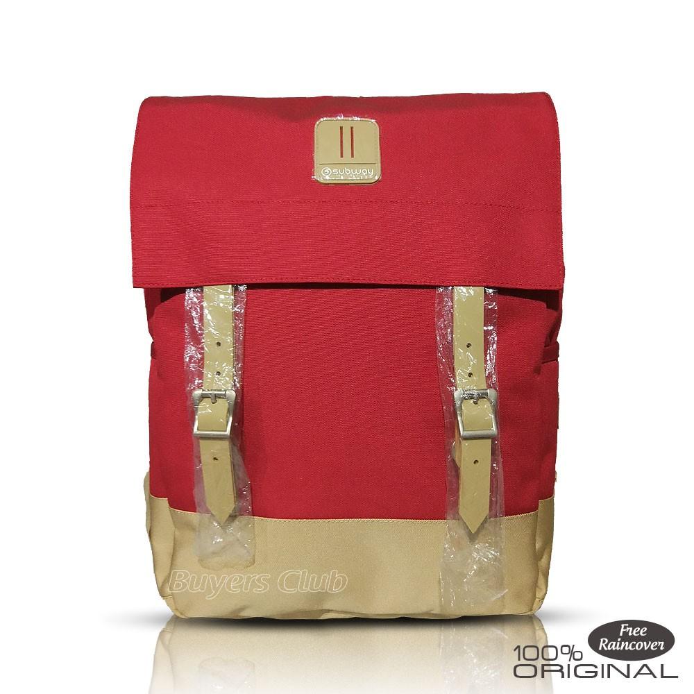 Subway Bag Tas Ransel Wanita Laptop Raincover Daftar Harga Terbaru 21177 Backpack Punggung Daypack Merah Shopee Indonesia