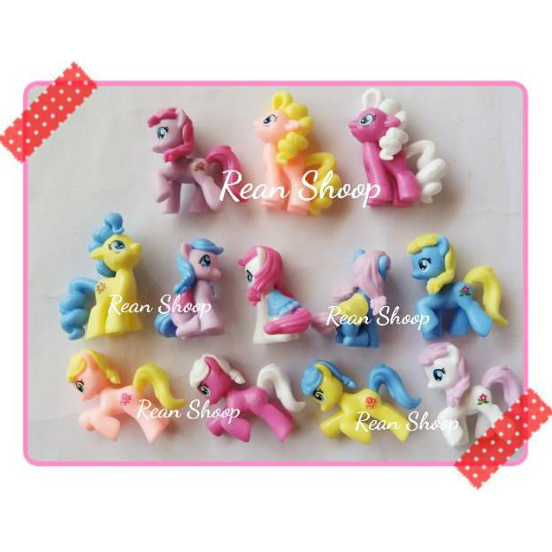 Ready Kekinian Action Figure Mainan Topper Toper Hiasan Kue Cake Ulang Tahun Karakter My Little Pony
