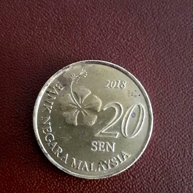 UANG KUNO MALAYSIA 20 SEN 2018