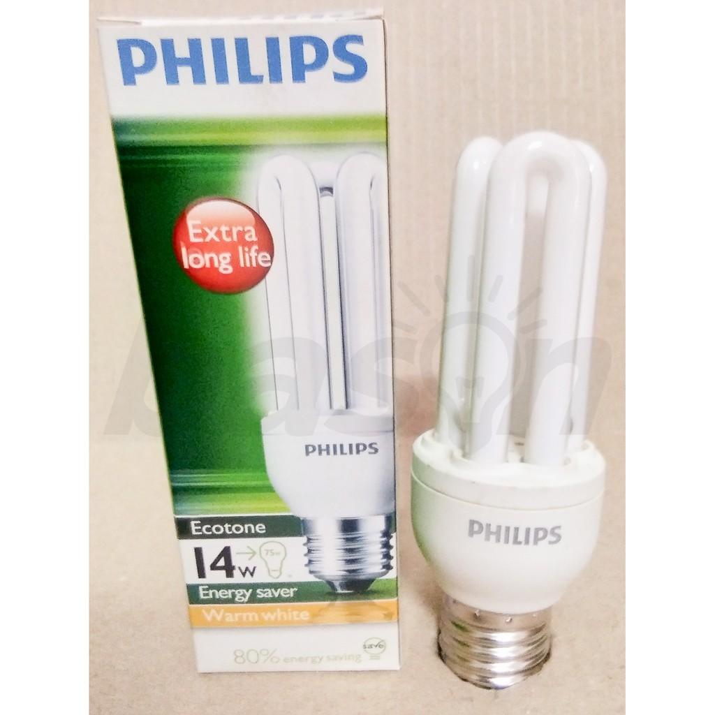 Philips Ecotone High Switch 14w Warm White E27 Shopee Indonesia Ledbulb 13 100w 3000k 230v Kuning