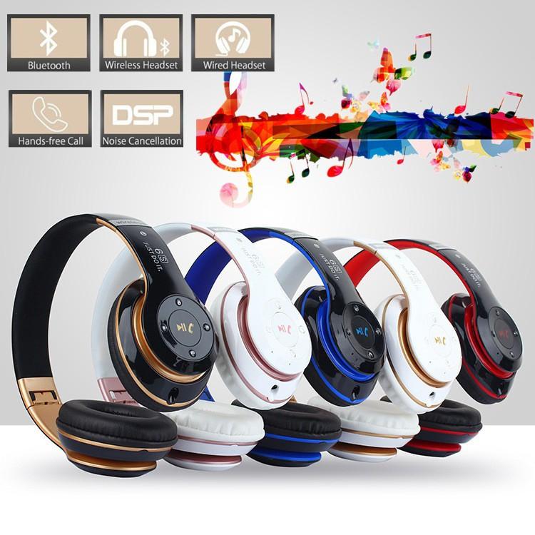 Headset Wireless Bluetooth V4.0 + EDR Stereo Warna Hitam/Merah/Putih dengan Mikrofon | Shopee Indonesia